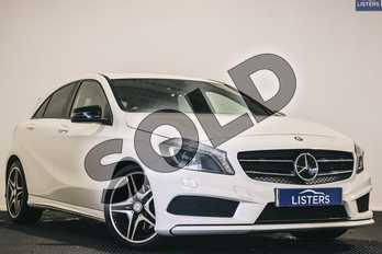 Mercedes-Benz A Class Diesel A220 CDI BlueEFFICIENCY AMG Sport 5dr Auto in Solid - Cirrus white at Listers U Stratford-upon-Avon