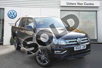 Volkswagen Amarok D/Cab Pick Up Highline 3.0 V6 TDI 258 BMT 4M Auto in Deep Black at Listers Volkswagen Van Centre Coventry