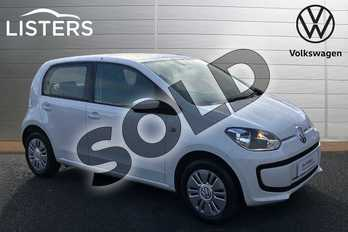 Volkswagen Up 1.0 Move Up 5dr in Pure White at Listers Volkswagen Stratford-upon-Avon