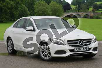 Mercedes-Benz C Class Diesel C220d Sport 4dr Auto in Polar White at Mercedes-Benz of Boston