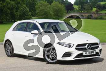 Mercedes-Benz A Class Diesel A180d AMG Line 5dr Auto in polar white at Mercedes-Benz of Grimsby