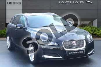 Jaguar XF Diesel Sportbrake 2.2d (200) Premium Luxury 5dr Auto in Ultimate Black at Listers Jaguar Droitwich