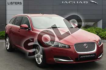 Jaguar XF Diesel Sportbrake 2.2d (163) Luxury 5dr Auto in Italian Racing Red at Listers Jaguar Droitwich