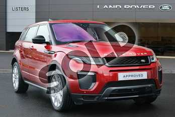 Range Rover Evoque Diesel 2.0 TD4 HSE Dynamic 5dr Auto in Firenze Red at Listers Land Rover Hereford