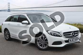 Mercedes-Benz C Class C200 Sport Premium 5dr 9G-Tronic in Solid - Polar white at Listers U Northampton