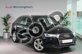 Audi Q3 Diesel 2.0 TDI Quattro SE 5dr in Mythos Black, metallic at Birmingham Audi