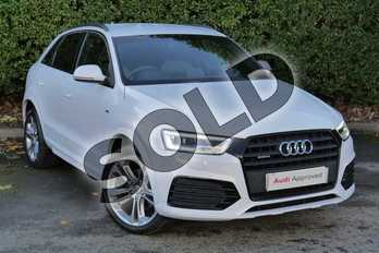 Audi Q3 Special Editions 2.0 TDI (184) Quattro S Line Plus 5dr S Tronic in Glacier White, metallic at Worcester Audi