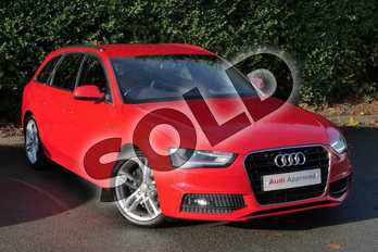 Audi A4 Diesel 2.0 TDI 150 S Line 5dr in Misano Red, pearl effect at Worcester Audi