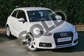 Audi A1 1.4 TFSI Sport 3dr in Glacier White Metallic at Worcester Audi