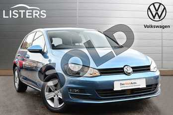 Volkswagen Golf Diesel 1.6 TDI 110 Match Edition 5dr in Blue at Listers Volkswagen Coventry