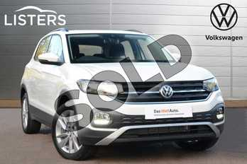 Volkswagen T-Cross Diesel 1.6 TDI SE 5dr in Pure White at Listers Volkswagen Leamington Spa
