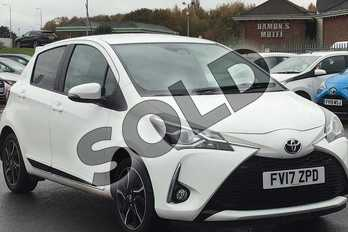 Toyota Yaris 1.5 VVT-i Design 5dr in White at Listers Toyota Lincoln