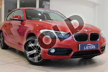 BMW 1 Series 118i (1.5) Sport 3dr (Nav) in Solid - Crimson red at Listers U Northampton