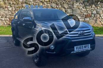 Toyota Hilux Diesel Invincible D/Cab Pick Up 2.4 D-4D Auto in Black at Listers Toyota Stratford-upon-Avon