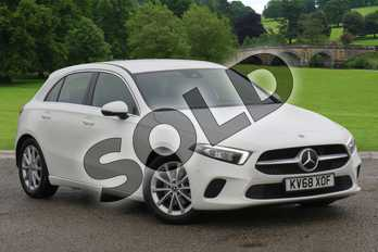 Mercedes-Benz A Class Diesel A180d Sport Executive 5dr Auto in polar white at Mercedes-Benz of Grimsby