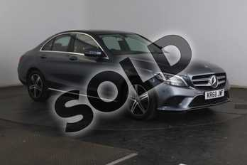 Mercedes-Benz C Class C200 Sport 4dr 9G-Tronic in selenite grey metallic at Mercedes-Benz of Grimsby