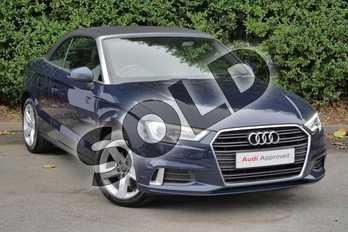 Audi A3 1.4 TFSI Sport 2dr in Cosmos blue, metallic at Worcester Audi