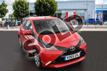 Toyota AYGO 1.0 VVT-i X-Play 5dr in Red Pop at Listers Toyota Cheltenham