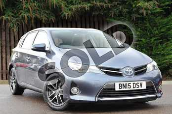 Toyota Auris 1.8 VVTi Hybrid Icon+ 5dr CVT Auto in Blue at Listers Toyota Coventry
