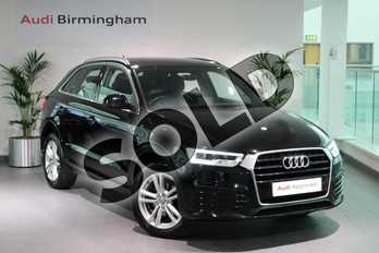 Audi Q3 Diesel 2.0 TDI S Line 5dr in Brilliant Black at Birmingham Audi