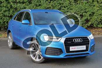 Audi Q3 Special Editions 2.0 TDI (184) Quattro S Line Plus 5dr S Tronic in Hainan blue, metallic at Worcester Audi