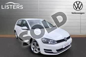 Volkswagen Golf 1.4 TSI SE 5dr in Pure white at Listers Volkswagen Worcester