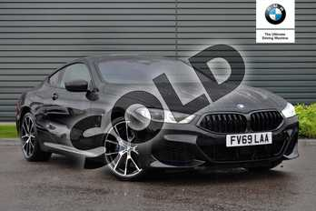 BMW 8 Series 840i sDrive 2dr Auto in Black Sapphire metallic paint at Listers Boston (BMW)