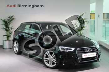 Audi A3 35 TFSI S Line 5dr S Tronic in Brilliant Black at Birmingham Audi