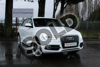 Audi Q5 Special Editions 2.0 TDI Quattro S Line Plus 5dr in Ibis White at Coventry Audi