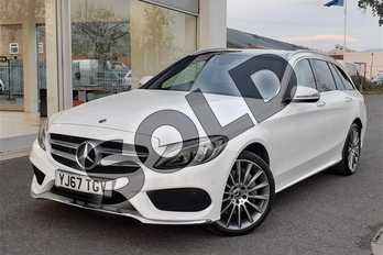 Mercedes-Benz C Class Diesel C250d 4Matic AMG Line Premium 5dr Auto in Solid - Polar white at Worcester Audi