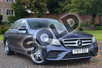 Mercedes-Benz E Class Diesel E220d AMG Line 4dr 9G-Tronic in Cavansite blue Metallic at Mercedes-Benz of Lincoln
