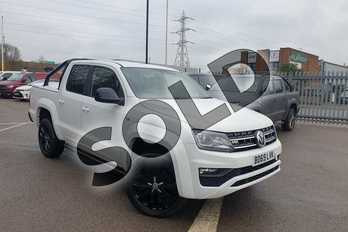 Volkswagen Amarok D/Cab Pick Up Black Ed 3.0 V6 TDI 258 BMT 4M Auto in White at Listers Volkswagen Van Centre Coventry