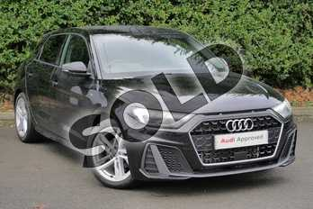 Audi A1 30 TFSI S Line 5dr in Myth Black Metallic at Worcester Audi