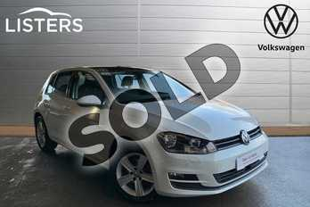 Volkswagen Golf Diesel 1.6 TDI 110 Match Edition 5dr in Pure white at Listers Volkswagen Leamington Spa