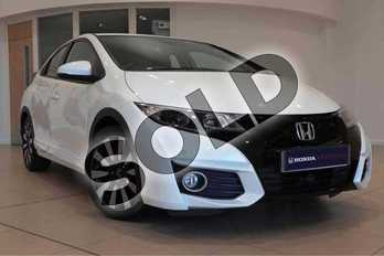 Honda Civic 1.4 i-VTEC SE Plus 5dr  in White Orchid at Listers Honda Solihull