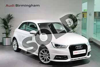 Audi A1 1.4 TFSI S Line 3dr in Shell White at Birmingham Audi