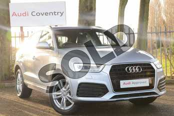 Audi Q3 2.0 TDI S Line Navigation 5dr in Floret Silver Metallic at Coventry Audi