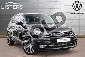 Volkswagen Tiguan 2.0 TDI 150 4Motion R Line 5dr DSG in Deep black at Listers Volkswagen Leamington Spa