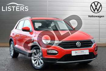 Volkswagen T-Roc 1.0 TSI SE 5dr in Flash Red at Listers Volkswagen Leamington Spa