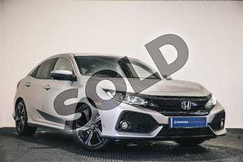 Honda Civic 1.0 VTEC Turbo SR 5dr in Lunar Silver M at Listers Honda Stratford-upon-Avon