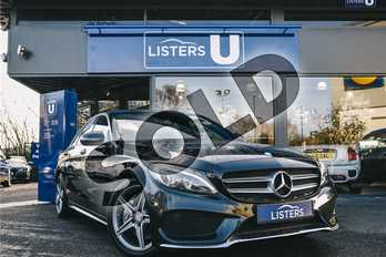 Mercedes-Benz C Class C250d AMG Line Premium Plus 4dr Auto in Metallic - Obsidian black at Listers U Coventry