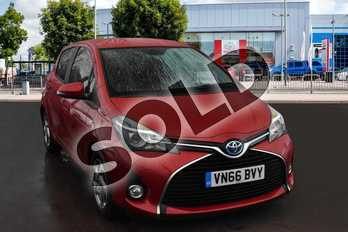 Toyota Yaris 1.5 Hybrid Icon 5dr CVT in Vermilion Red at Listers Toyota Cheltenham