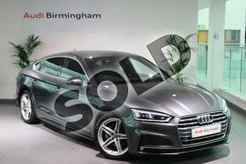 Audi A5 Diesel 2.0 TDI Ultra S Line 5dr in Daytona Grey Pearlescent at Birmingham Audi