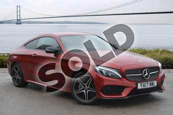 Mercedes-Benz C Class Diesel C220d AMG Line 2dr Auto in designo Hyacinth Red Metallic at Mercedes-Benz of Grimsby