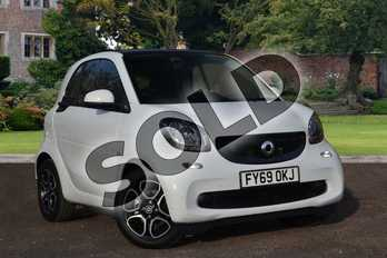 smart Fortwo Coupe EQ  coupe in white at smart at Mercedes-Benz of Lincoln