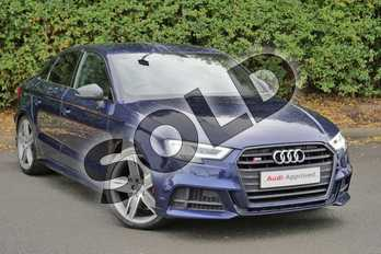 Audi A3 Special Editions S3 TFSI Quattro Black Edition 4dr S Tronic in Navarra Blue Metallic at Worcester Audi