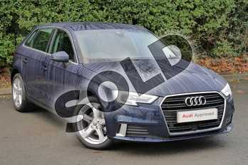 Audi A3 Diesel 1.6 TDI 116 Sport 5dr in Cosmos blue, metallic at Worcester Audi