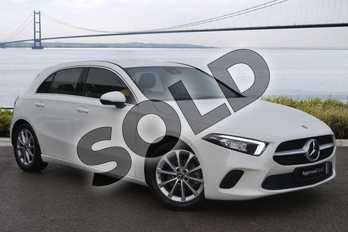 Mercedes-Benz A Class Diesel A180d Sport 5dr Auto in Polar White at Mercedes-Benz of Hull