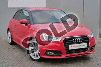Audi A1 1.4 TFSI 150 S Line 3dr S Tronic in Misano Red Pearlescent at Stratford Audi