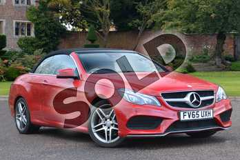 Mercedes-Benz E Class Diesel E350 BlueTEC AMG Line Premium 2dr 9G-Tronic in Fire Opal at Mercedes-Benz of Lincoln